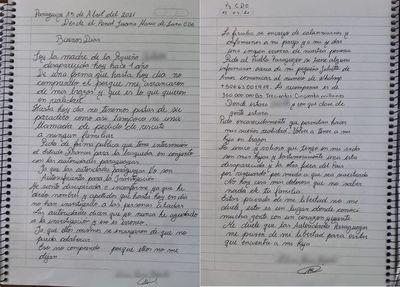 Carta de madre de niña desaparecida desde prisión: Pide intervención de Francia