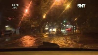 Intensa lluvia en Asunción y Central