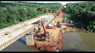 Corredor de Exportación: concluyó montaje de vigas para el puente sobre el río Ñacunday