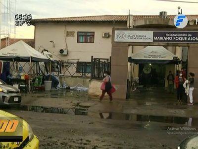 Lluvias y granizos ocasionan destrozos en Hospital de MRA