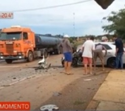Dos heridos tras accidente en que tres vehículos quedaron involucrados
