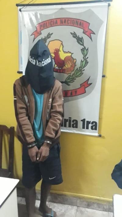 Mendigo fue preso por asaltar a turista brasileña