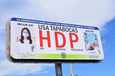 'USÁ TAPABOCAS HDP': la peculiar campaña de concienciación de uso de mascarillas en Villa Elisa