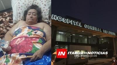 ENCARNACENA SE ENCUENTRA ABANDONADA EN EL HOSPITAL DE LUQUE.