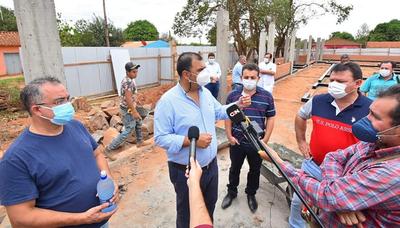 Caazapá: Avanzan las obras en San Juan Nepomuceno
