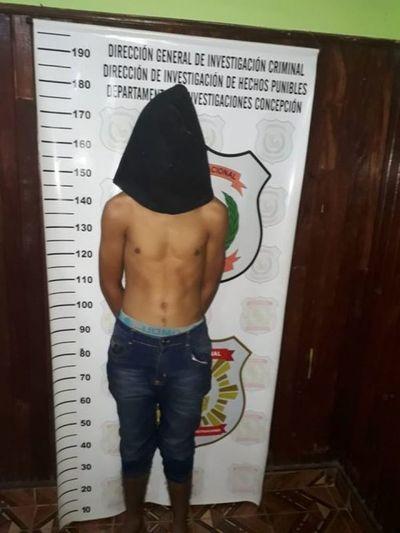Policía detiene a presunto delincuente en Concepción