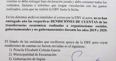 La Nación / La EBY fue denunciada por desacato por incumplir Ley de Transparencia