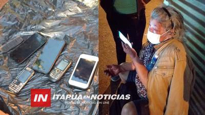 TELÉFONOS INCAUTADOS EN ALLANAMIENTO DESARROLLADO EN PUERTO PIRAPO TRAS  VIOLENTO ASALTO.