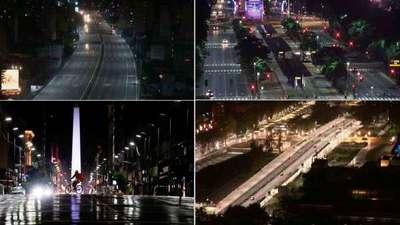 Buenos Aires vacía en el primer día de restricciones duras