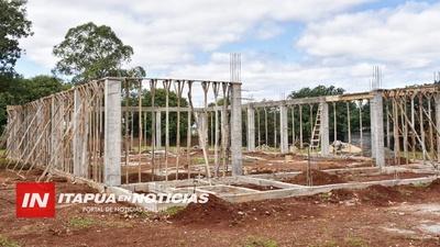 BUEN AVANCE DE CONSTRUCCIÓN DE POLIDEPORTIVOS EN TRES ESCUELAS.