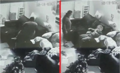 Funcionario de Tesãi agrede a esposa frente a sus hijos
