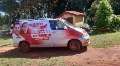 Recuperan vehículo robado en asalto que era usado como propaganda electoral