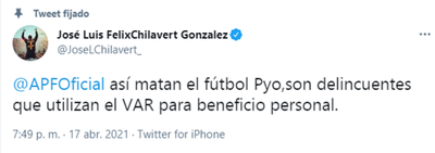 Chilavert se enfureció tras polémico penal a favor de Nacional