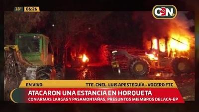 Atacaron una estancia en Horqueta, Concepción