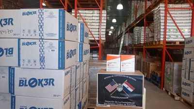 Paraguay recibe segundo equipamiento de insumos y medicamentos donados por los Estados Unidos