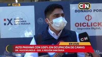 Alto Paraná con 100% de ocupación de camas