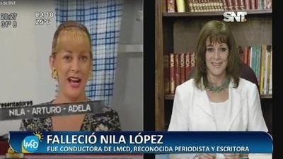 Falleció la querida Nila López
