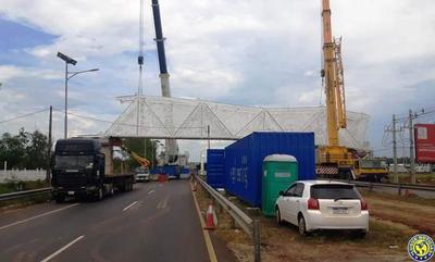 Auditoria del MOPC revela irregularidades en construcción de pasarela en Luque •