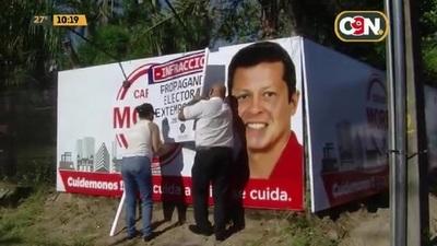 Intervienen propaganda electoral irregular en zona de la Costanera Norte