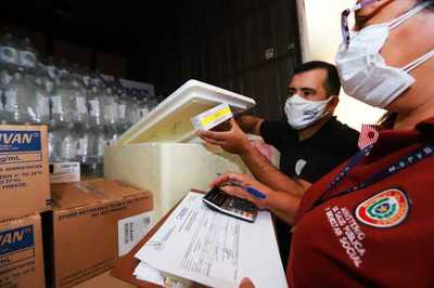 Paraguay recibe totalidad de donativo de medicamentos de Estados Unidos para la lucha contra la covid-19