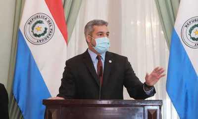El presidente Mario Abdo Benítez vuelve a dar negativo a prueba del covid-19