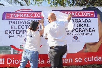 Fiscalía realizó procedimiento de retiro de propaganda electoral extemporánea – Prensa 5