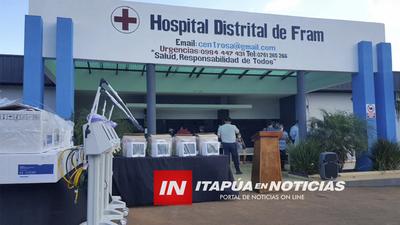 DONAN RESPIRADORES Y MONITORES AL HOSPITAL DISTRITAL DE FRAM.