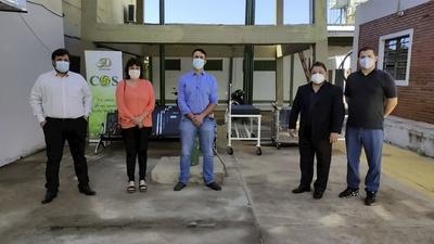COS ENTREGA DONACIÓN AL HOSPITAL DE ENCARNACIÓN EN EL MARCO DE SU 50 ANIVERSARIO.