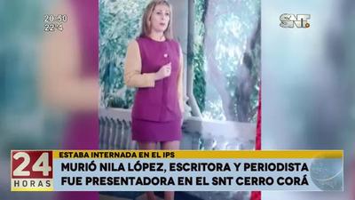 Murió la escritora y periodista Nila López