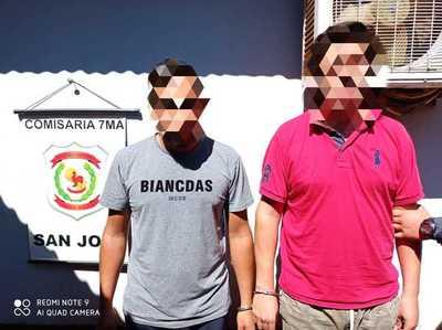 Caen dos presuntos delincuentes sospechados de asaltar una florería