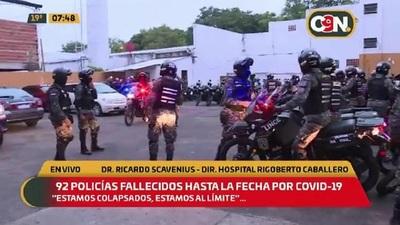 Unos 92 policías fallecidos hasta la fecha por covid-19