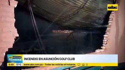 Incendio en el Asunción Golf Club