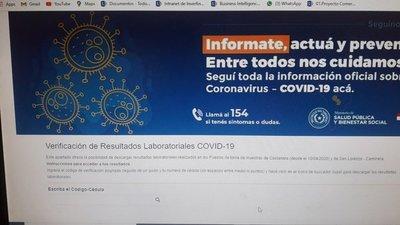 Confirman fallas en el sistema de revisión de resultados laboratoriales de Covid-19