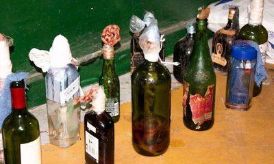 Incautan de Tacumbú bombas tipo molotov y objetos prohibidos