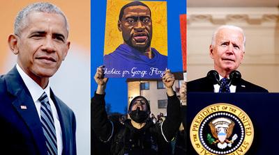 Joe Biden y Barack Obama opinan sobre el veredicto contra el ex policía que asesinó a George Floyd