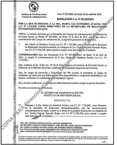 IPS premia con jugoso zoquete a acusada de varios hechos de corrupción