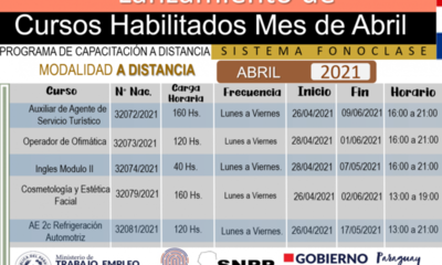 SNPP habilita cursos modulares en Alto Paraná