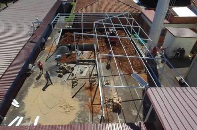 Municipalidad de Lambaré construye nuevo pabellón en el Hospital Distrital