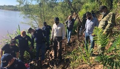 Horqueta: Fiscal interviene en hallazgo de restos óseos, en las cercanías del río Aquidaban