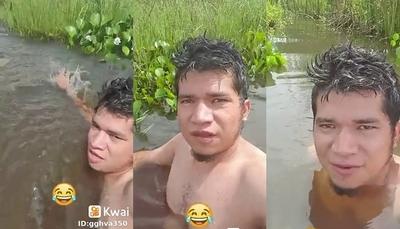 """""""El Jaka"""" estrenó piscina y quiere a una """"minina"""" que la acompañe"""