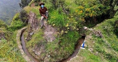 La Nación / En las altas montañas de Lima se 'siembra el agua' con ingeniería prehispánica