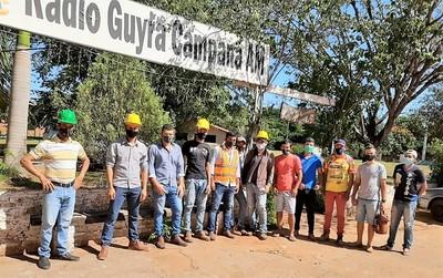 Adjudicados con licitación de G. 37.000 millones no pagan a obreros y se genera conflicto en Horqueta