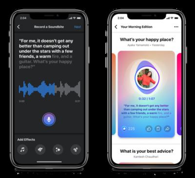 Usuarios de Facebook podrán escuchar contenidos de audios