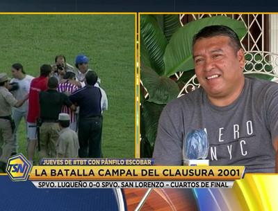 Escobar da su versión de aquel Luqueño – San Lorenzo del 2001