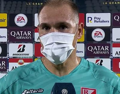 Daniel Azcona, la figura del partido ante el Corinthians