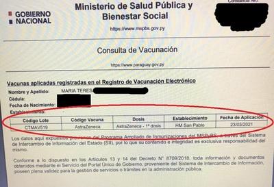 Problema resuelto: Salud reportó 'error en carga de un dígito' tras registro de docente como vacunada contra COVID