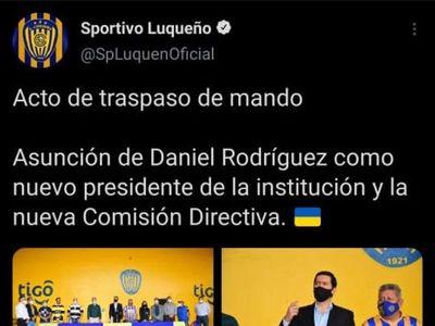El tuit que Sportivo Luqueño publicó y luego borró