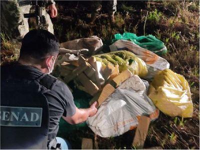 Senad detecta 216 kilos de marihuana prensada en Villeta