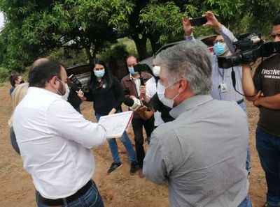 Autoridades fueron a Oviedo a verificar dónde construirán bases policiales y de la Senad