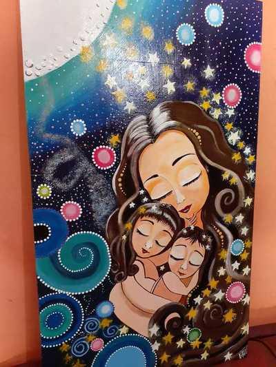 Talentosa docente jubilada de Loreto pinta hermosos cuadros